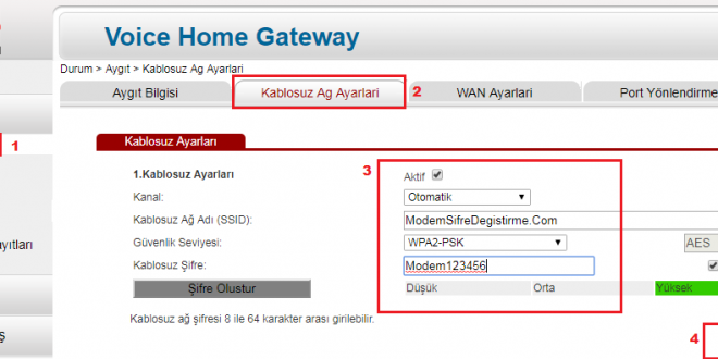 Superonline Modem WiFi Şifresi Değiştirme 1