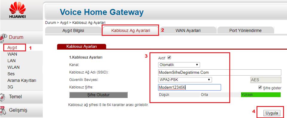 Superonline Modem WiFi Şifresi Değiştirme 2