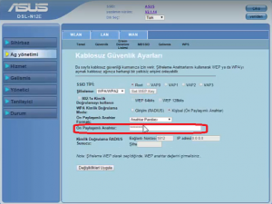 Asus Modem WiFi Şifre Değiştirme 2