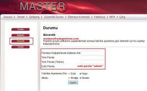 Netmaster - Uydunet Modem Wifi Şifre Değiştirme 7