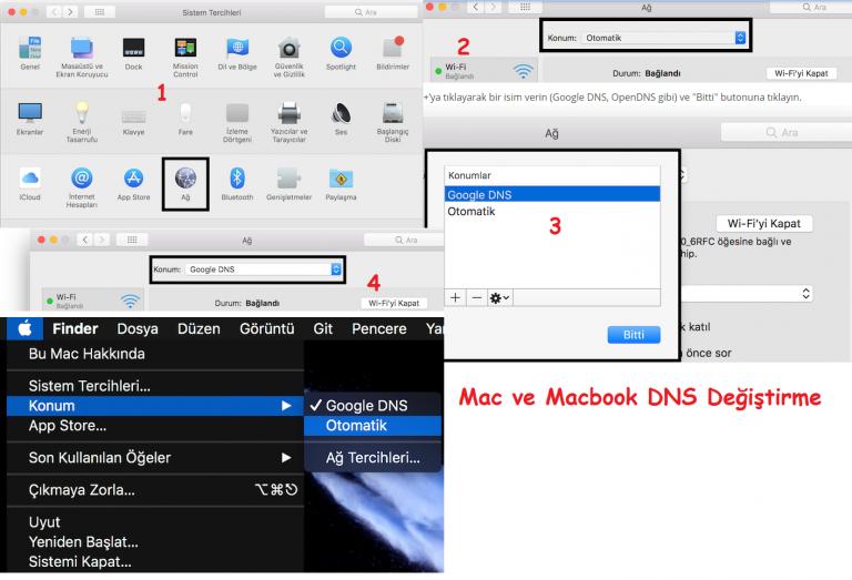 MAC ve Macbook DNS Değiştirme 2021