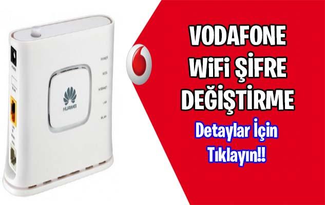 WiFi Şifre Değiştirme Vodafone 2021