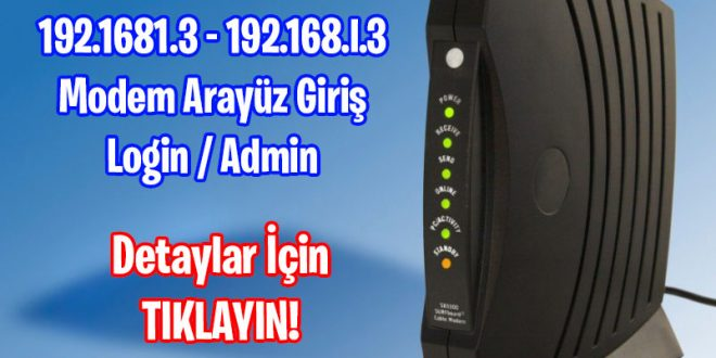 192.168.1.3 - 192.168.l.3 Giriş Login Admin