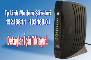 Tp Link Modem Şifreleri - 192.168.1.1 - 192.168.0.l