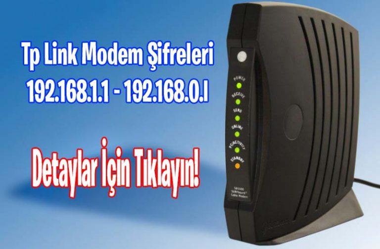 Tp Link Modem Şifreleri 2021
