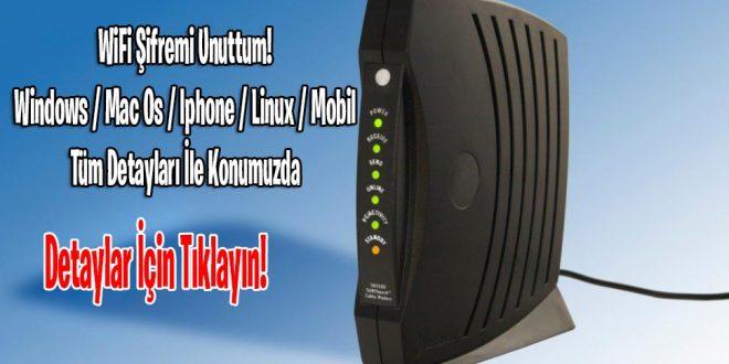 Wifi Şifremi Unuttum!