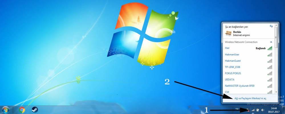 Tüm Windowslar da Wifi Şifre Bulma