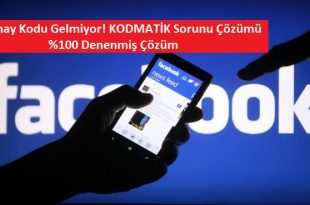 Facebook Kod Gelmiyor - Kodmatik Sorunu ( Çözümü )