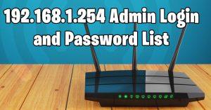192.168.l.254 admin login